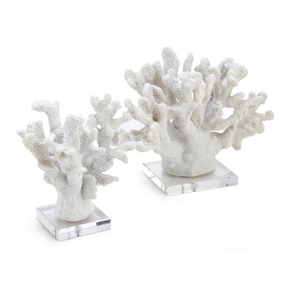 Coral Statuaries on Acrylic Base Set of 2
