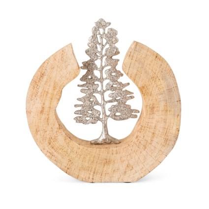 Monza Wood and Aluminum Tree Statuary