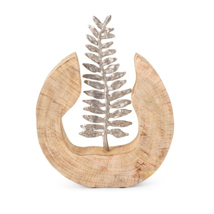 Monza Wood and Aluminum Fern Statuary