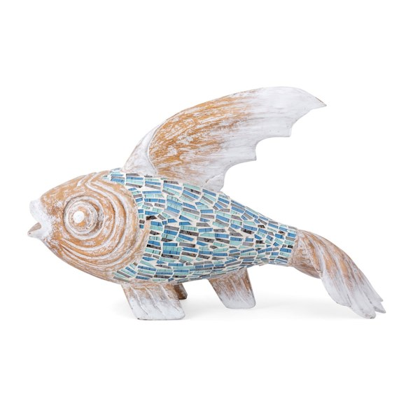 Abaco Carved Wood and Mosaic Fish