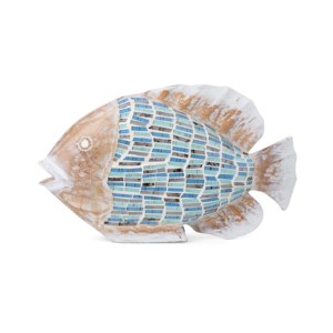 Andros Carved Wood and Mosaic Fish