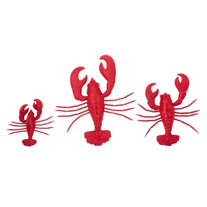 Wood Carved Lobster Wall Decors - Set of 3