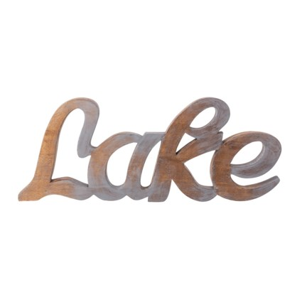 Lake Carved Wood Wall Decor or Statuary