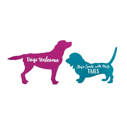 Dog Wall Decors - Set of 2