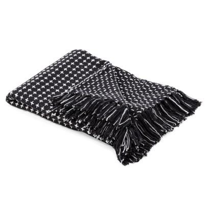 TY Coffee Talk Black and White Throw Blanket