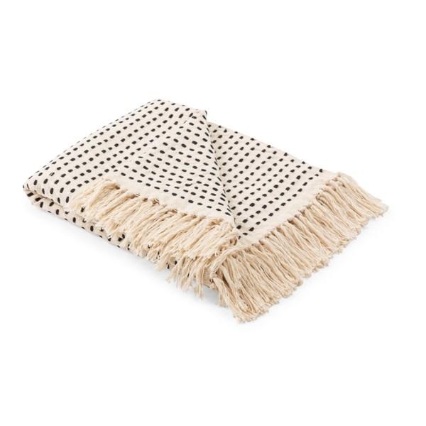 Udine Black Dash Handwoven Throw Blanket