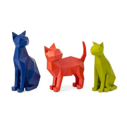 Origami Cat Statuaries - Set of 3