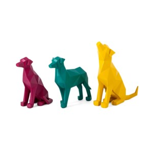 Origami Dog Statuaries - Set of 3