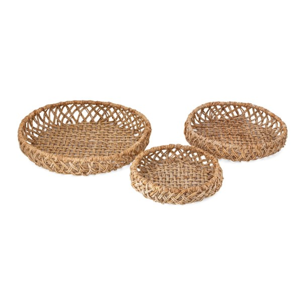 Abaca Woven Trays - Set of 3