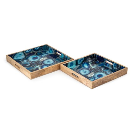 Jenson Decal Wood Trays - Set of 2