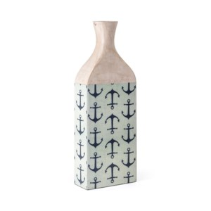 Jesson Anchor Decal Large Wood Vase