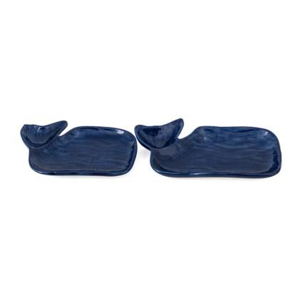 Nantucket Whale Plates - Set of 2