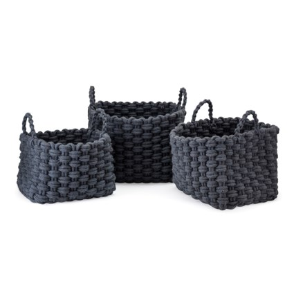 TY Bluebird Woven Rope Baskets - Set of 3
