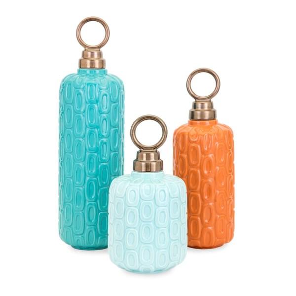 Leander Ceramic Jars - Set of 3