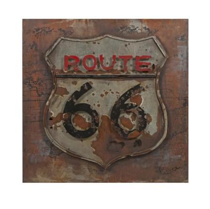 Route 66 Dimensional Metal Art