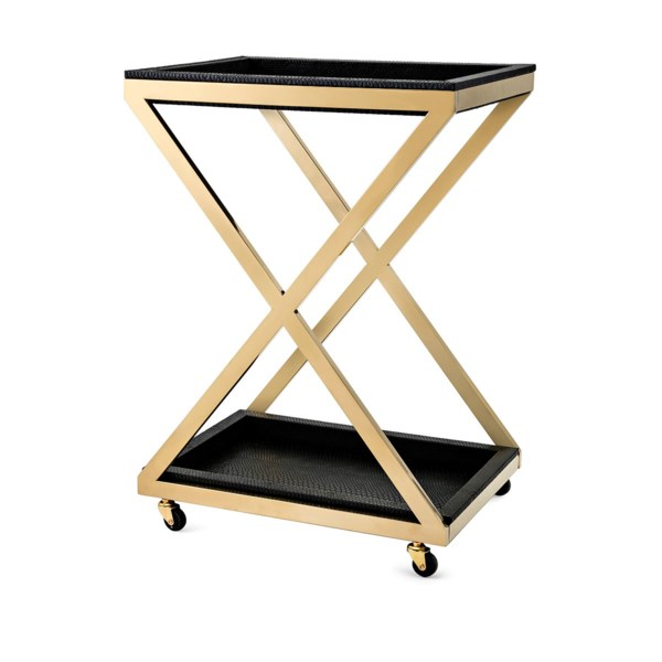 Marla Stainless Steel Bar Cart