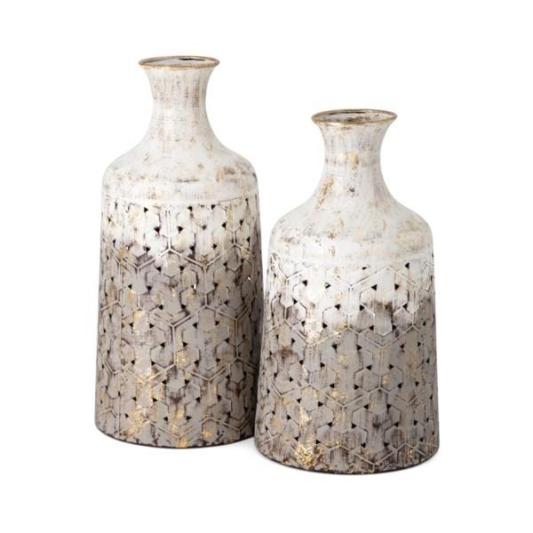 Lockley Metal Vases - Set of 2