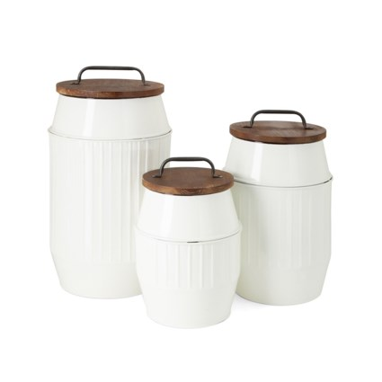 Donnaly Metal Containers - Set of 3