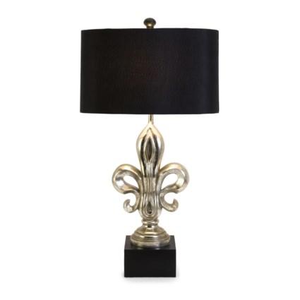Silver Fleur De Lis Lamp