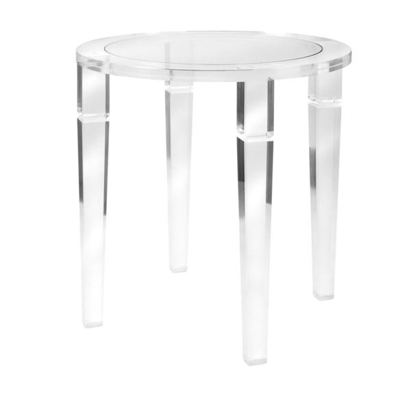 NK Meza Acrylic Accent Table - Nk Furniture - IMAX ...