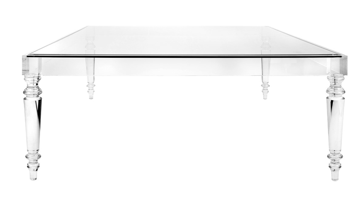 ... NK Devaro Oversized Acrylic And Glass Coffee Table