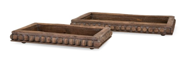 Kelly Wooden Decorative Trays - Set of 2