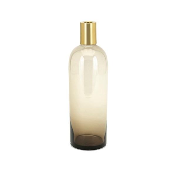 Nadine Medium Glass and Metal Vase