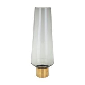 Desparte Large Glass and Metal Vase