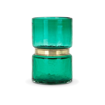Caspine Small Glass and Metal Vase