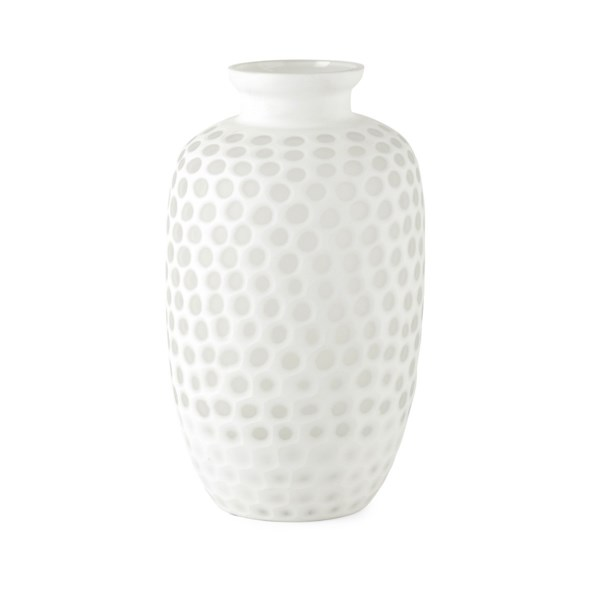 PGA TOUR Mulligan Tall Hand Carved Glass Vase