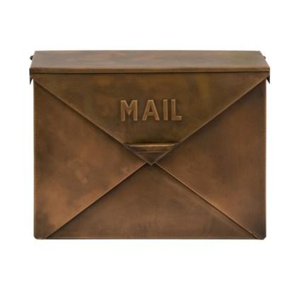 Tauba Copper Finish Mail Organizer