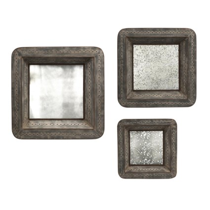 Jezant Mirror Tray Wall Decor - Set of 3