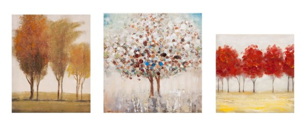 Miniature Tree Gallery Art - Set of 3