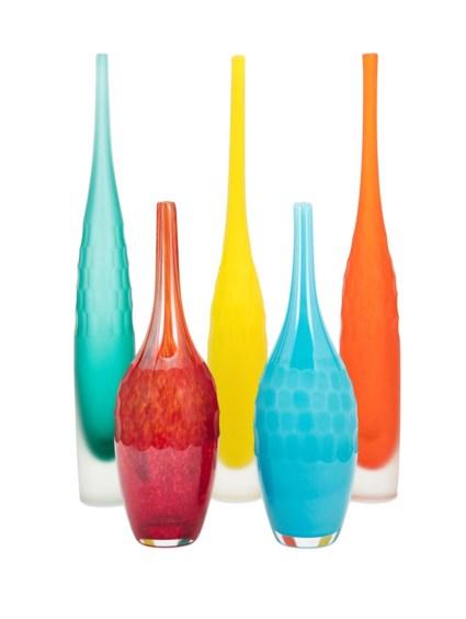 Kepla Glass Vases - Set of 5