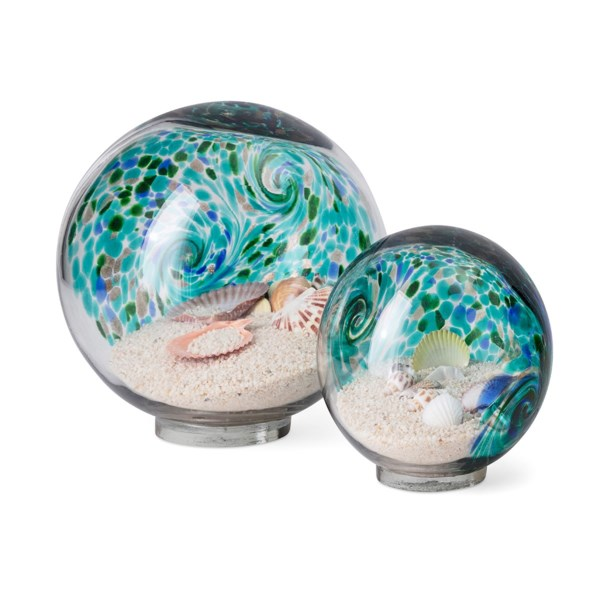 Russell Art Glass Globes - Set of 2