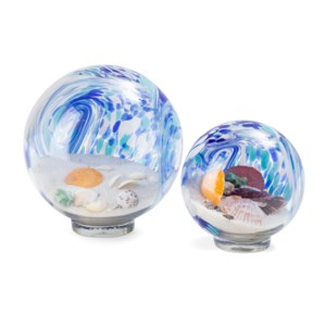 Lewis Art Glass Globes - Set of 2