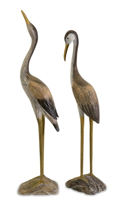 Reeds Wood Cranes - Set of 2