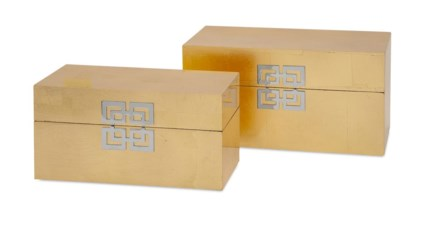 Danes Gold Leaf Boxes - Set of 2