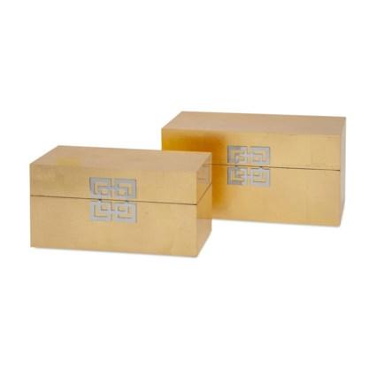 Danes Gold Leaf Boxes - Set of 2