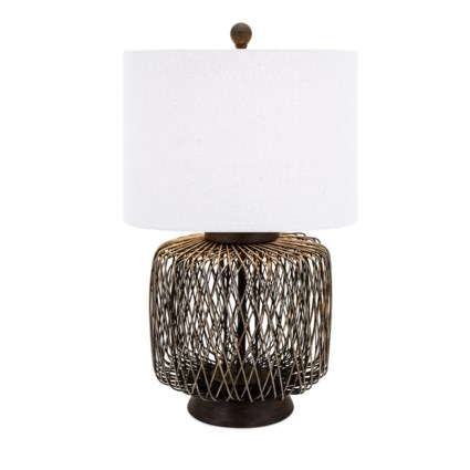 Bamboo Woven Table Lamp