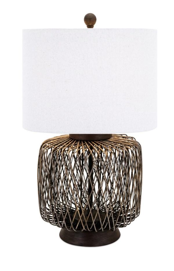 Bamboo Woven Table Lamp