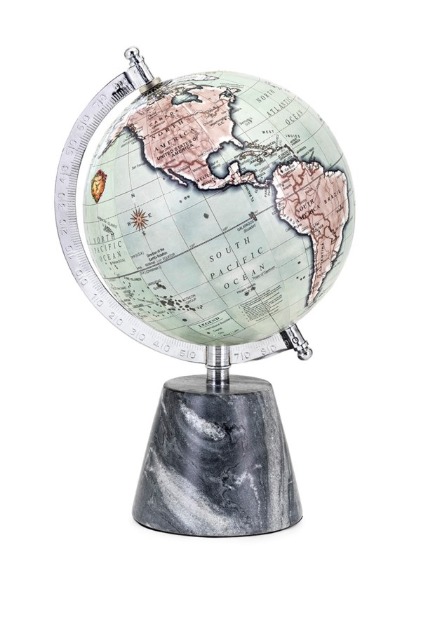 Beth Kushnick Globe with Marble Base