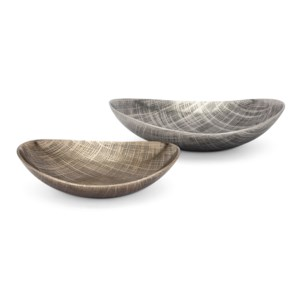 Ian Aluminum Decorative Trays - Set of 2