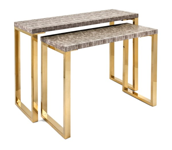 Virdigris Console Tables - Set of 2