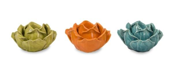 Chelan Flower Candleholders in Gift Box - Set of 3