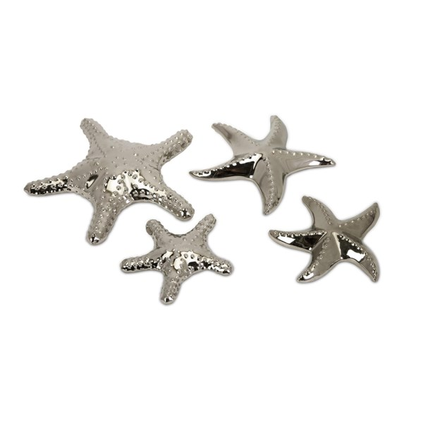 Cortland Silver Starfish - Set of 4