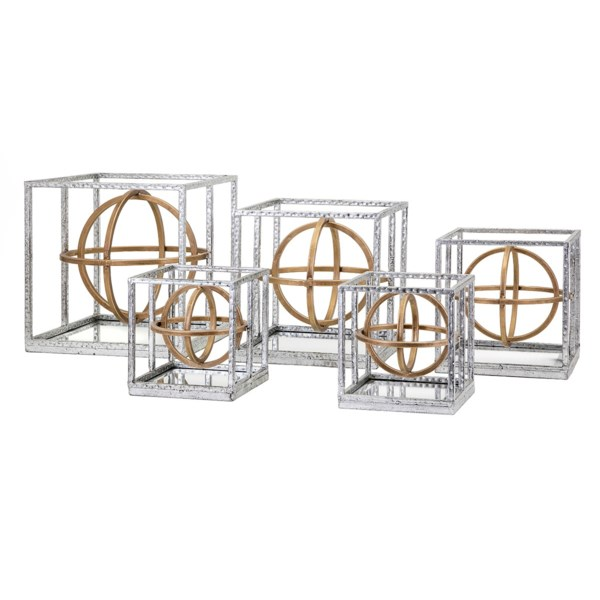 NK Arlette Dimensional Mirror Wall Decors - Set Of 5 - Nk Wall Decor ...