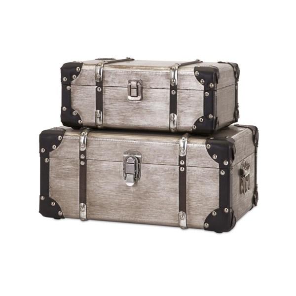 Baker Aluminum Clad Suitcases - Set of 2