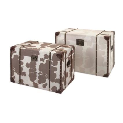 TY Cowboy Storage Trunks - Set of 2