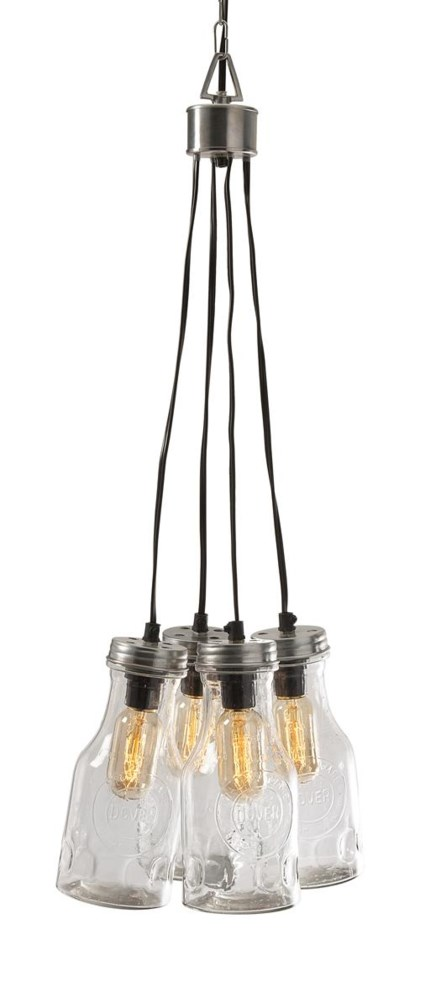 Cormack Glass Bottle Cluster Pendant Light
